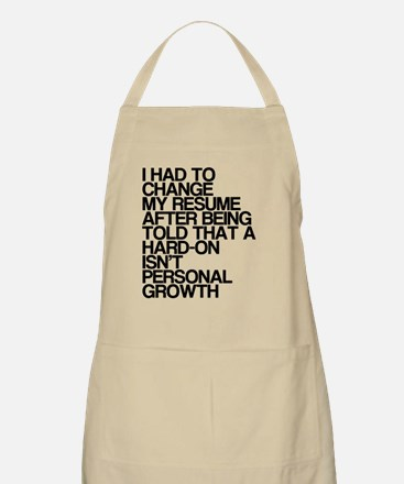Resume, Personal Growth, Dirty Humor, Apron