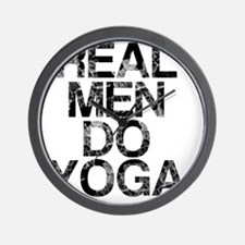 Real Men Do Yoga, Vintage, Wall Clock