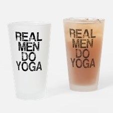 Real Men Do Yoga, Vintage, Drinking Glass