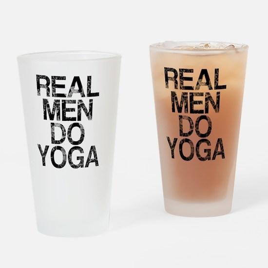 Real Men Do Yoga, Vintage, Drinking Glass