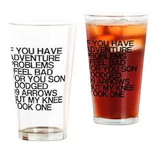 100 Problems, Knee Arrow Rhyme Drinking Glass