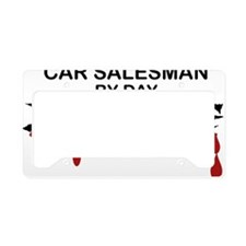 Car Salesman Zombie License Plate Holder