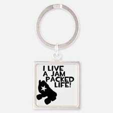 Jam Packed Life Square Keychain