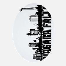 Niagara Falls Skyline V Oval Ornament