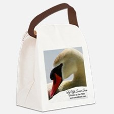 Swan Calendar Cover Canvas Lunch Bag