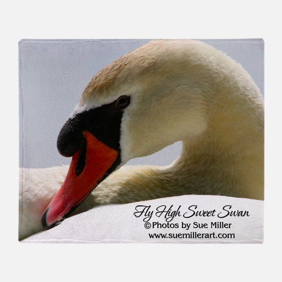 Swan Calendar Cover Throw Blanket