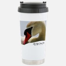 Swan Calendar Cover Stainless Steel Travel Mug