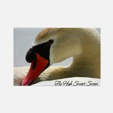 Swan Calendar Cover Rectangle Magnet