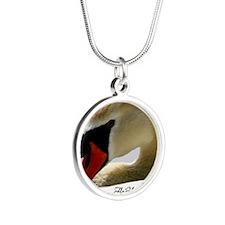 Swan Calendar Cover Silver Round Necklace