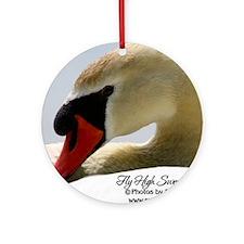 Swan Calendar Cover Round Ornament