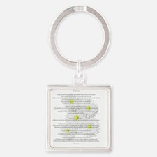 Desiderata on Daisies Square Keychain