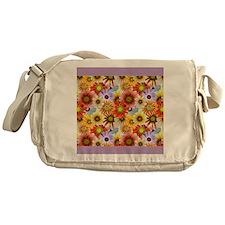 vintage birds flowers lilac Messenger Bag