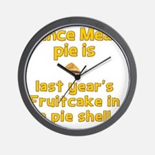 Mince Meat pie disguised as fruitcake Wall Clock