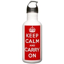Keep Calm And Carry On Sports Water Bottle