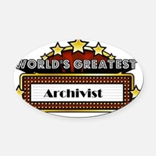 World's Greatest Archivist  Oval Car Magnet