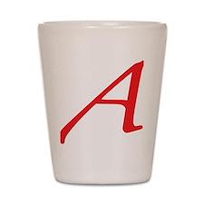 Atheism Scarlet Letter A Symbol Shot Glass