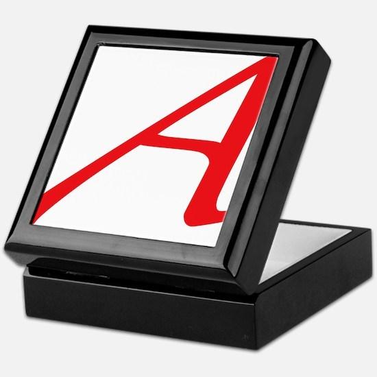 Atheism Scarlet Letter A Symbol Keepsake Box