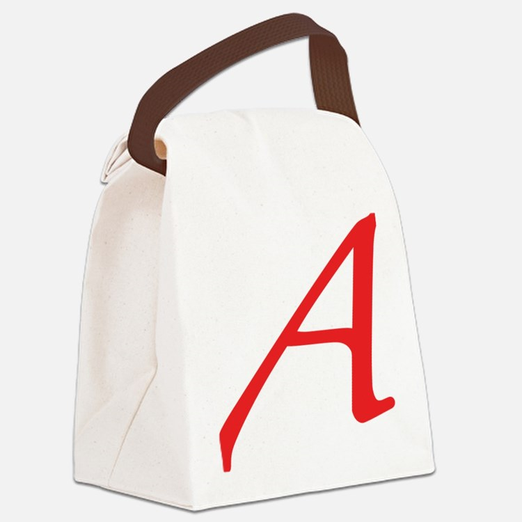 Atheism Scarlet Letter A Symbol Canvas Lunch Bag
