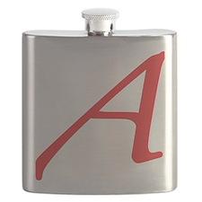 Atheism Scarlet Letter A Symbol Flask