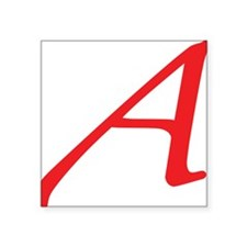 "Atheism Scarlet Letter A Sy Square Sticker 3"" x 3"""