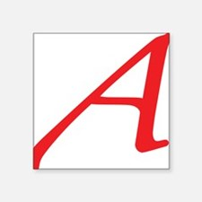 """Atheism Scarlet Letter A Sy Square Sticker 3"""" x 3"""""""