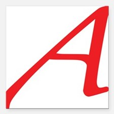 """Atheism Scarlet Letter A Square Car Magnet 3"""" x 3"""""""