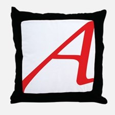 Atheism Scarlet Letter A Symbol Throw Pillow