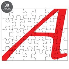 Atheism Scarlet Letter A Symbol Puzzle