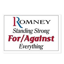 Romney For/Against Everyt Postcards (Package of 8)