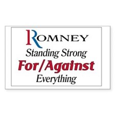 Romney For/Against Everything Decal