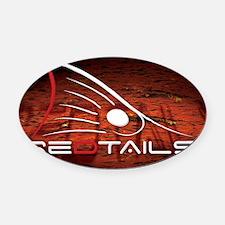 Redtails Lic Oval Car Magnet