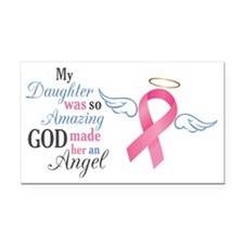 My Daughter An Angel - Rectangle Car Magnet