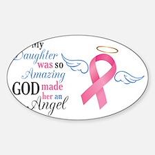 My Daughter An Angel - Sticker (Oval)
