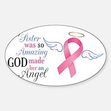 My Sister An Angel - Sticker (Oval)