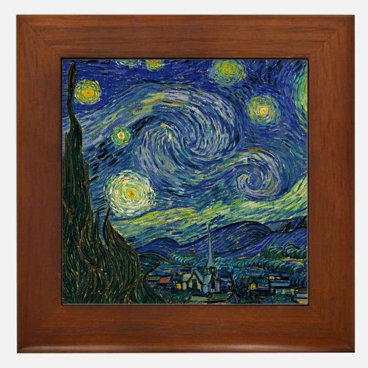 Starry ET Night Framed Tile