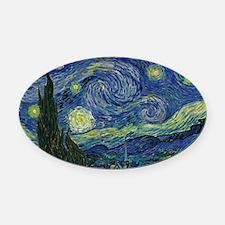 Starry ET Night Oval Car Magnet