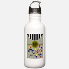 RN abstract cell phone Water Bottle