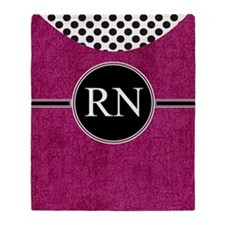 RN fuschia cases Throw Blanket