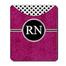 RN fuschia cases Mousepad