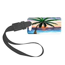 Sunset Palm Tree Art Luggage Tag