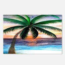 Sunset Palm Tree Art Postcards (Package of 8)