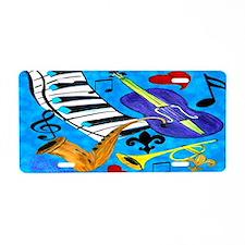 Jazz Music art Aluminum License Plate