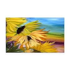 Sunflower Field Rectangle Car Magnet