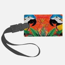 Parrot Heads Luggage Tag
