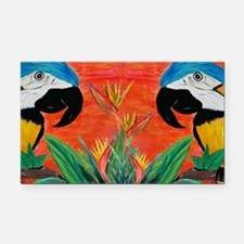 Parrot Heads Rectangle Car Magnet
