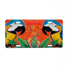 Parrot Heads Aluminum License Plate