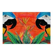 Parrot Heads Postcards (Package of 8)