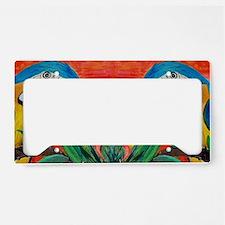 Parrot Heads License Plate Holder