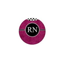 RN fuschia cases Mini Button
