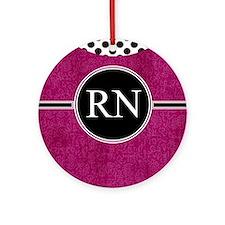 RN fuschia cases Round Ornament